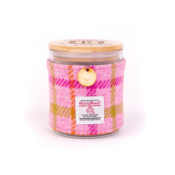 Harris Tweed Candle | Pink