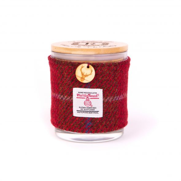 Harris Tweed Candle | Red