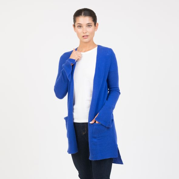 Women's Cashmere Girlfriend Cardigan | Royal Blue