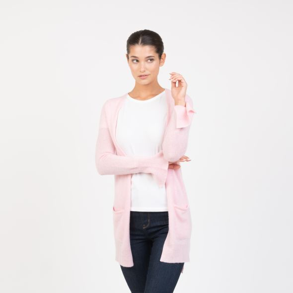 Women's Cashmere Girlfriend Cardigan | Pink