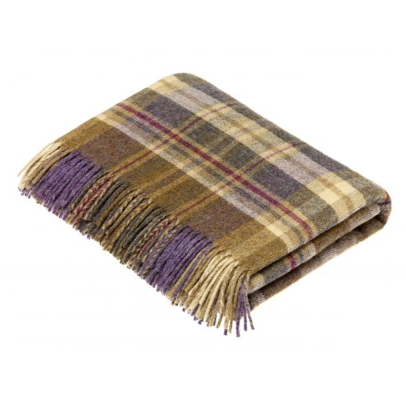 Bronte By Moon Throw | Glencoe Heather