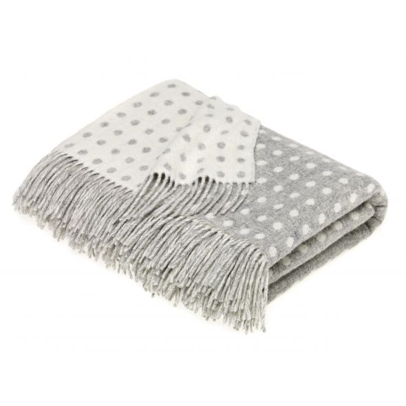 Bronte By Moon Throw | Grey Spot