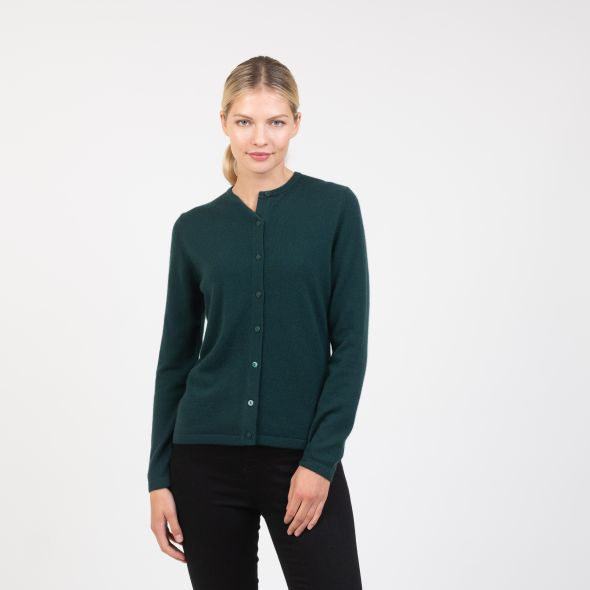 Women's Cashmere High Button Cardigan | Richmond Green