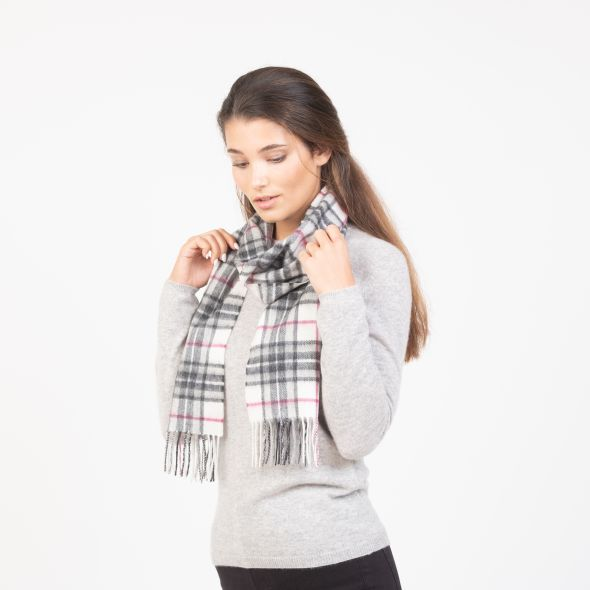 Cashmere Scarf | White Scotty Thompson