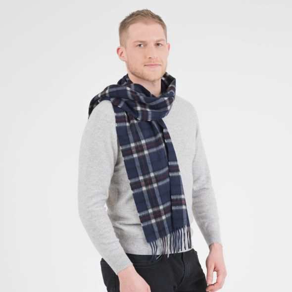 Cashmere Scarf | Navy Scotty Thomson