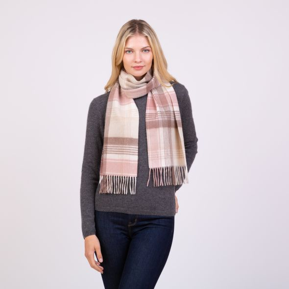Cashmere Scarf | Natural Repeat Edge