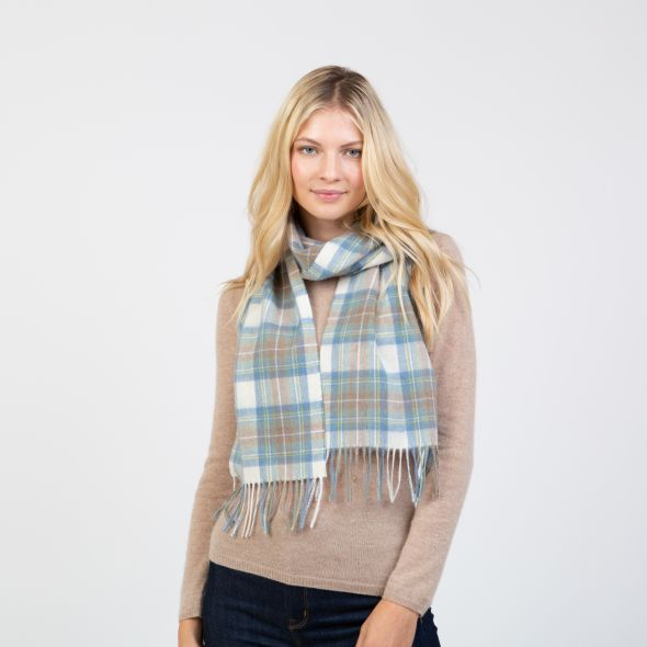 Lambswool Scarf | Muted Blue Stewart