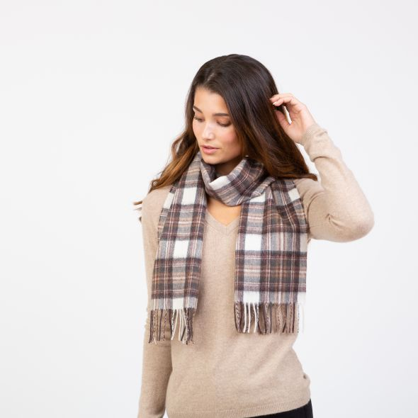 Lambswool Scarf | Natural Dress Stewart