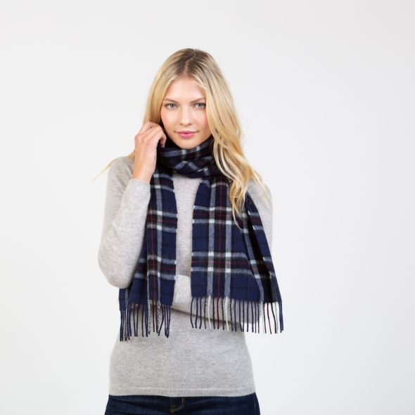 Lambswool Scarf | Navy Scotty Thomson