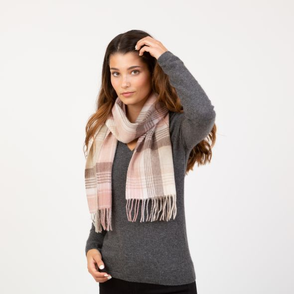 Lambswool Scarf | Natural Repeat Edge