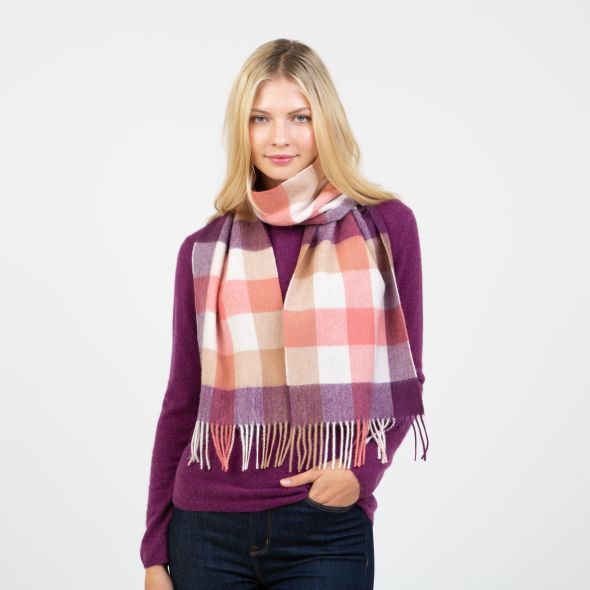 Lambswool Scarf | Eminence 5 Square Check