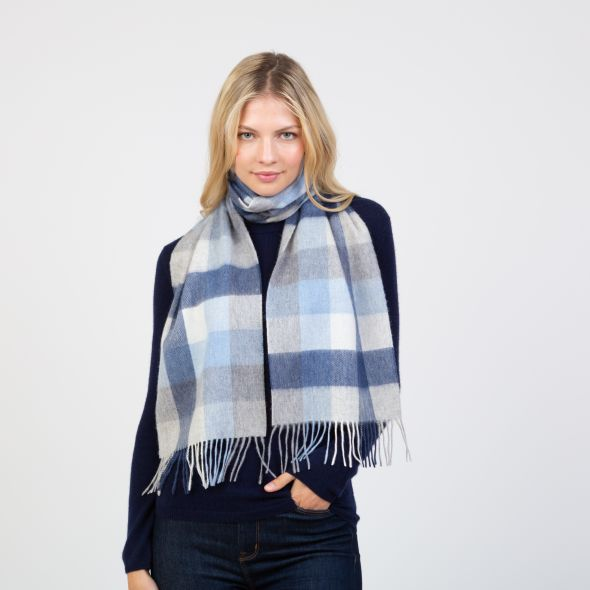 Lambswool Scarf | Glacier 5 Square Check