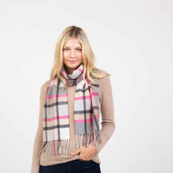 Lambswool Scarf | Princeton Check