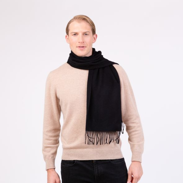 Lambswool Scarf | Black