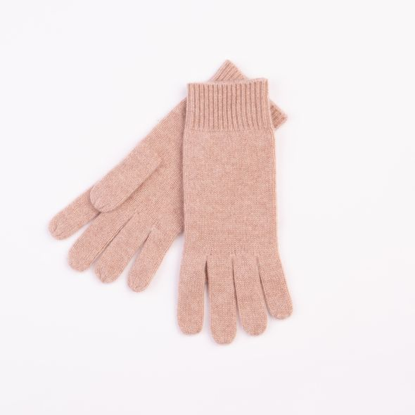 Cashmere Plain Gloves | Sand