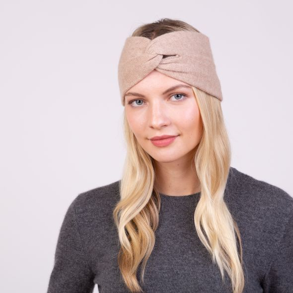Cashmere Twisted Knot Headband | Sand