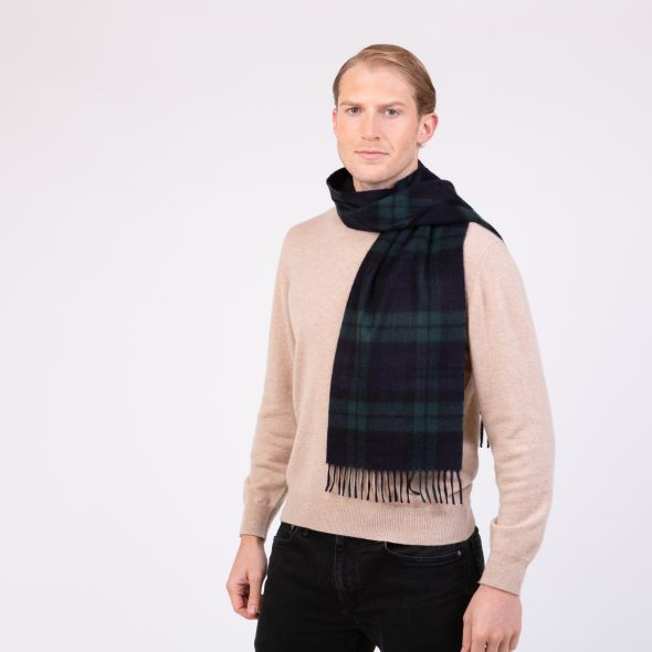 Made In Scotland Cashmere Scarf | Blackwatch