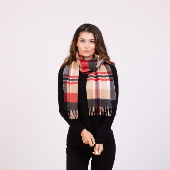 Made In Scotland Cashmere Scarf | Oriental Camel