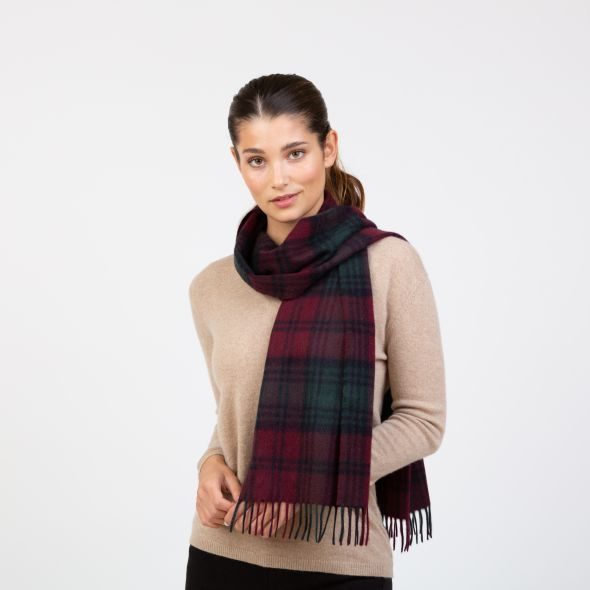 Made In Scotland Wide Cashmere Scarf | Lindsay