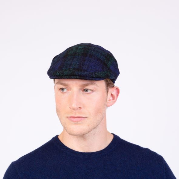 Harris Tweed Stornoway Cap | Blackwatch