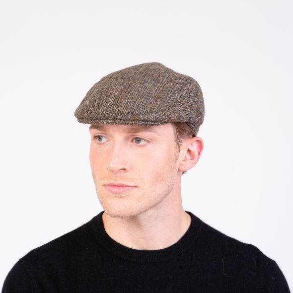 Harris Tweed Stornoway Cap | Brown Check