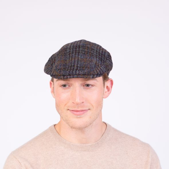 Harris Tweed Stornoway Cap | Blue Country Check