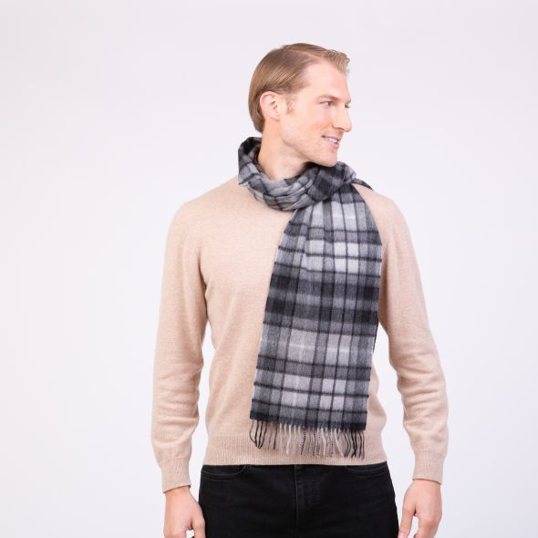 Made In Scotland Cashmere Scarf | Grey Buchanan