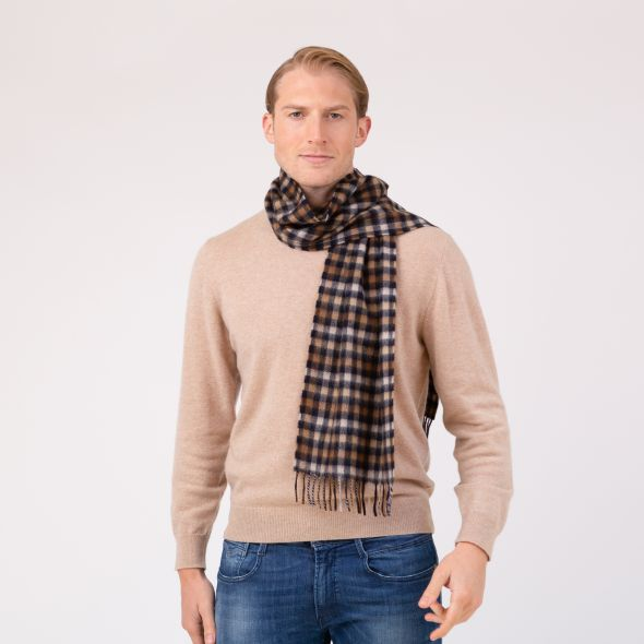 Made In Scotland Cashmere Scarf | Shepherd Check