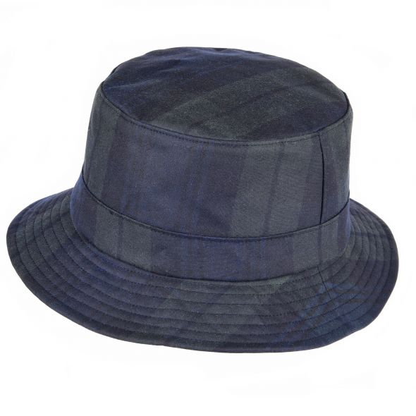 Lachlan Tartan Wax Bush Hat | Blackwatch