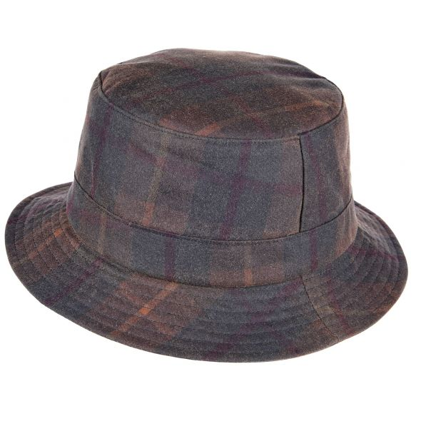 Lachlan Tartan Wax Bush Hat | Green