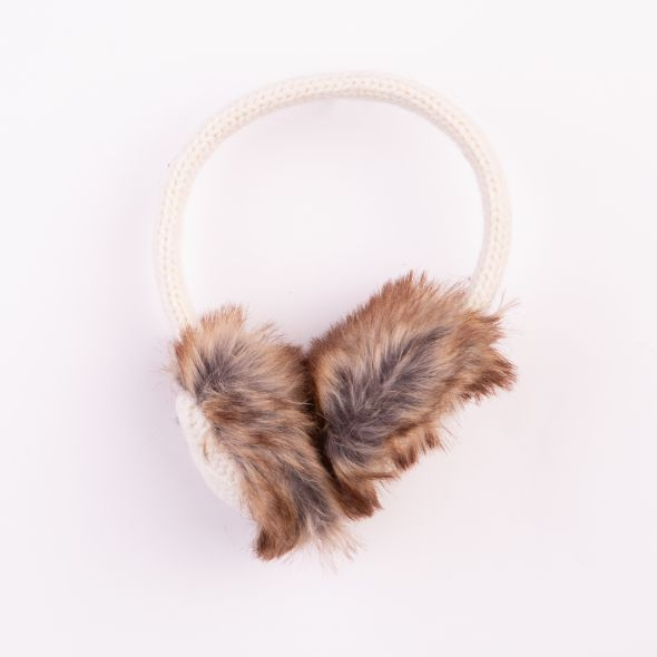 Cable Knit Earmuffs | Cream