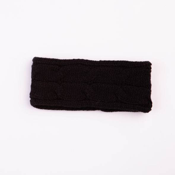 Cable Knit Headband | Black