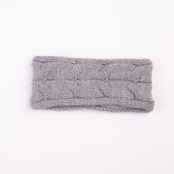 Cable Knit Headband | Grey