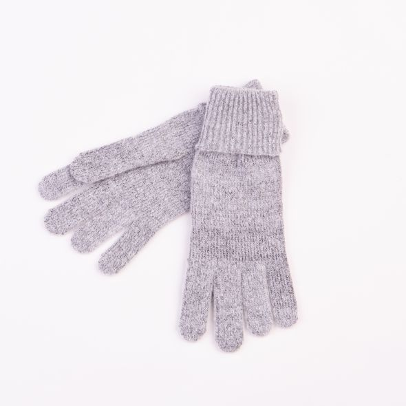Ribbed Gloves | Grey