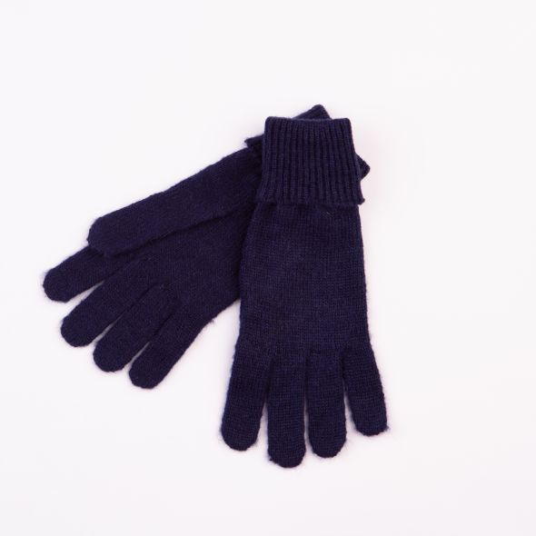 Ribbed Gloves | Navy