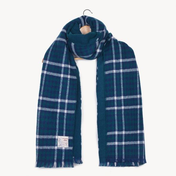 Haymarket Double Sided Stole | Blue