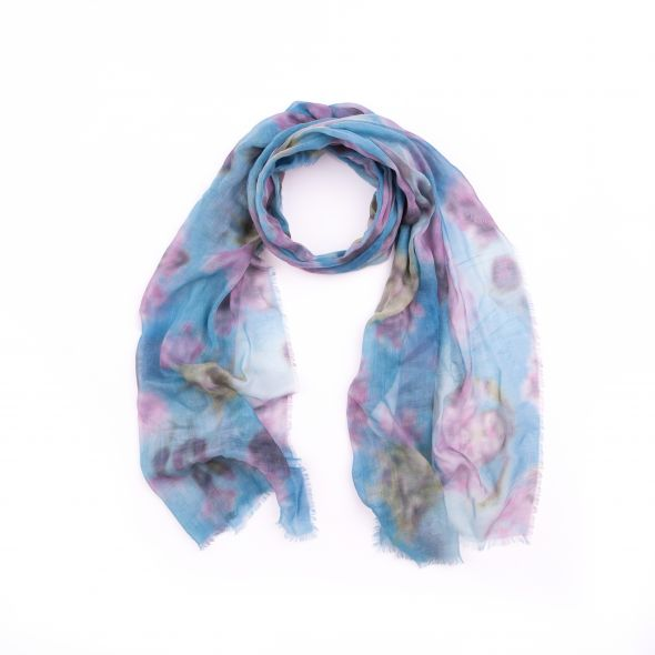 Isla Print Scarf | Blurred Thistle