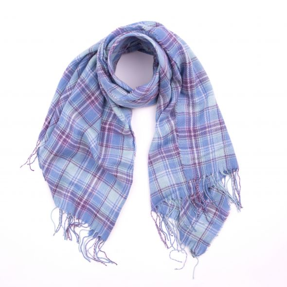 Wilfred Acrylic Check Scarf | Heather