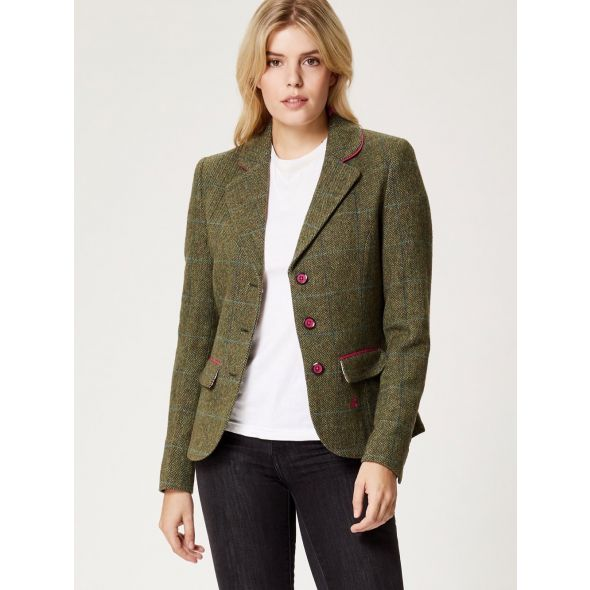 Cally Tweed Blazer | Green
