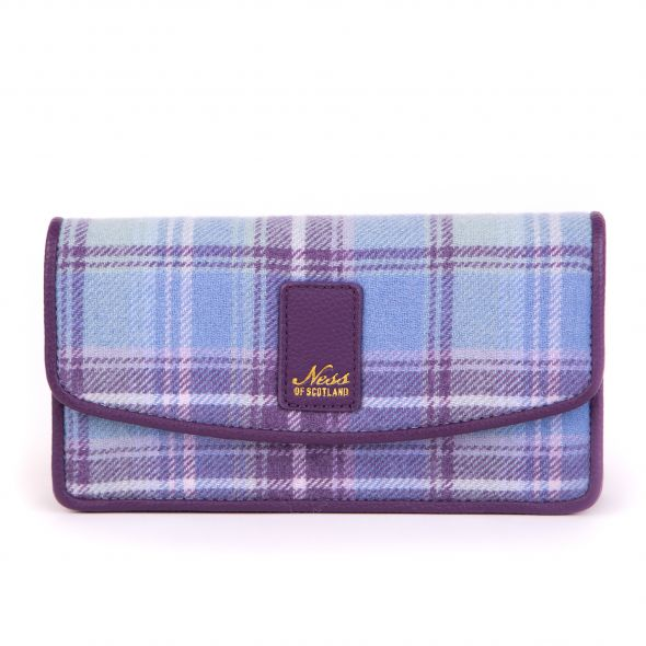 Fortingall Tweed Clutch | Heather