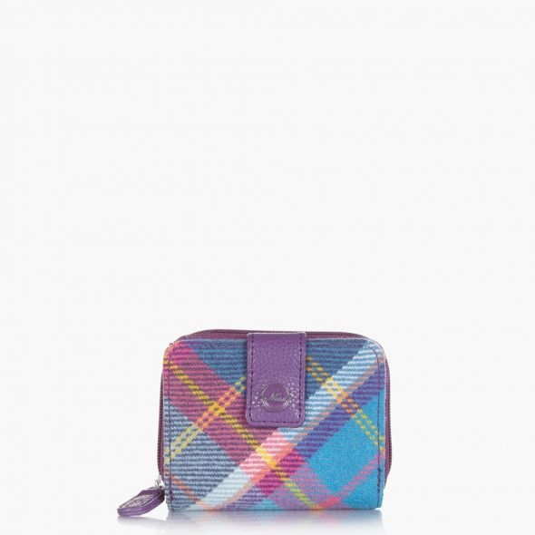 Sydney Purse | Fresh Bluebell Check
