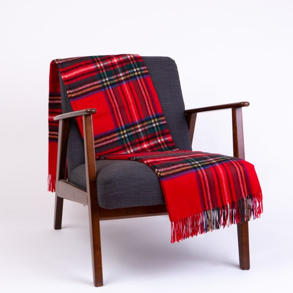 Lambswool Throw | Royal Stewart