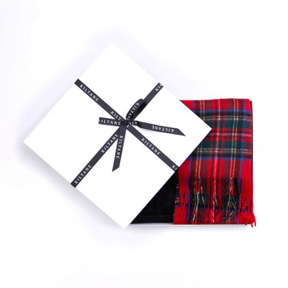 Cashmere Wide Scarf Gift Set | Official Royal Stewart