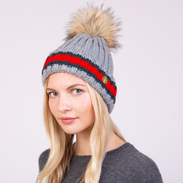 Kloster Pom Pom Hat | Light Grey