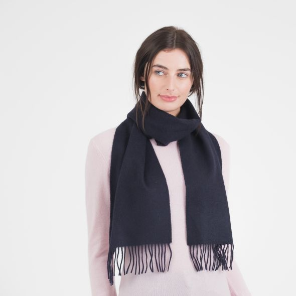 Cashmere Scarf | Dark Navy Plain