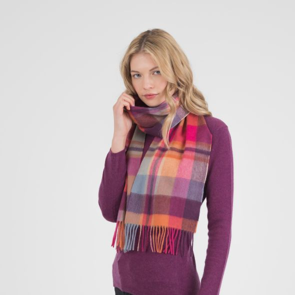 Cashmere Scarf | Orient Ginger New Square Check