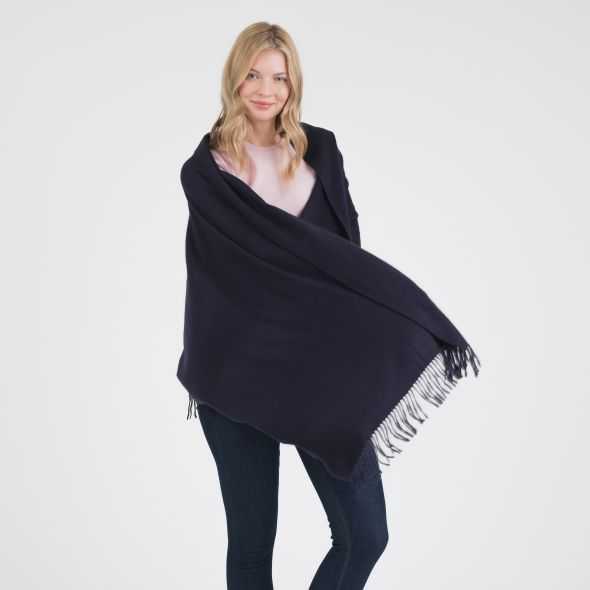 Cashmere Stole | Dark Navy Plain