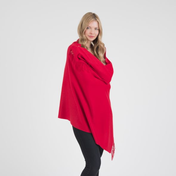 Cashmere Stole | Chinese Red Plain