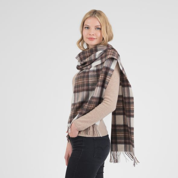 Cashmere Wide Scarf | Natural Dress Stewart
