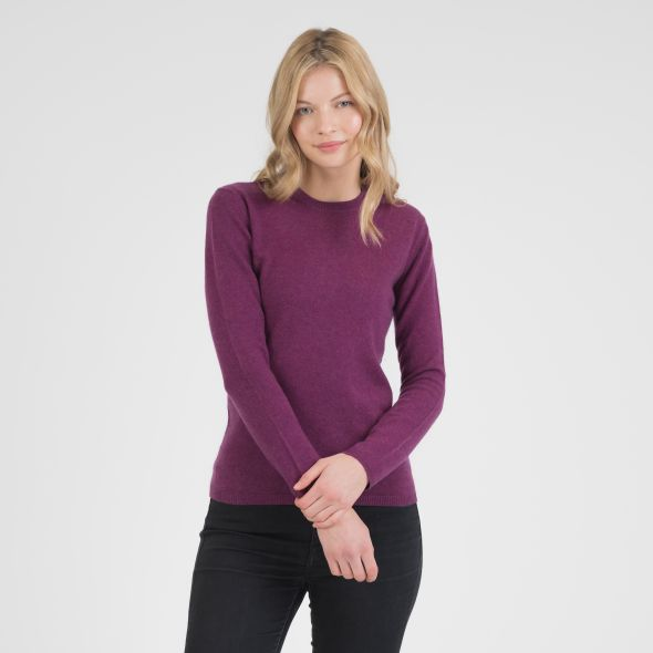 Women's Cashmere Crew Neck Jumper | Sloeberry